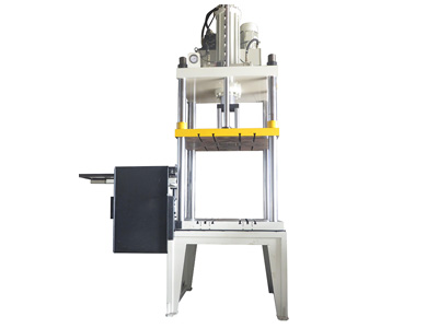 精锐系列:带翻板接料盘配机器人油压切边机