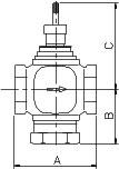 VB3000电动二通调节阀/电动三通调节阀
