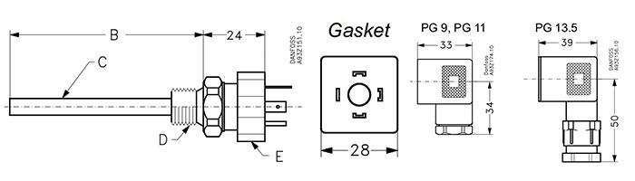 该温度传感器采用pt100