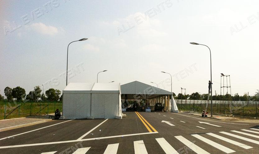 保利苏州军工展,上海欧绅专业提供3-40米跨度展会篷房出租