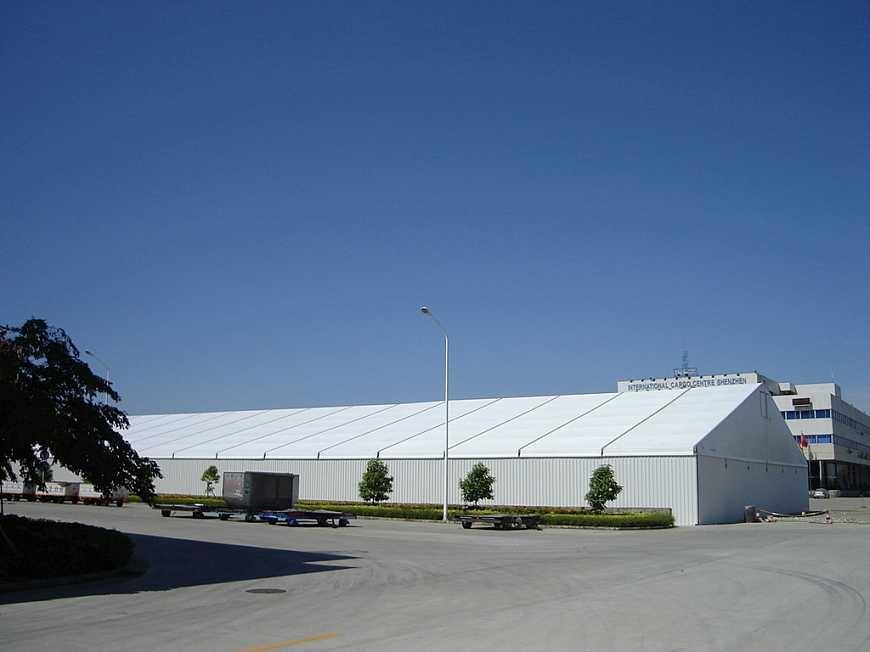 绿色煤矿仓库篷房将会成为开采业产业结构调整的下一个方向