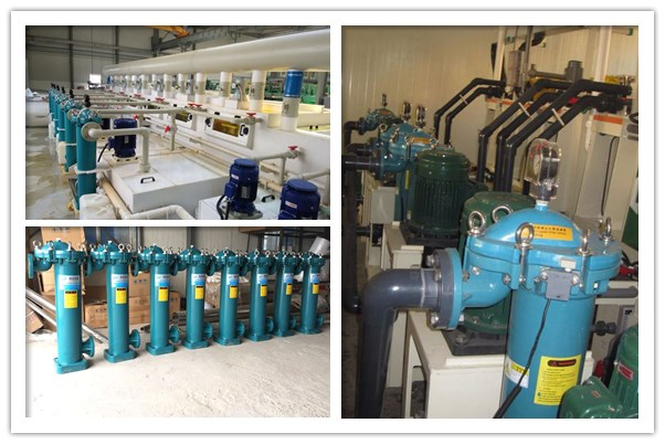PPR塑胶袋式过滤器,杭州颜料化工染料涂料精细过滤现场