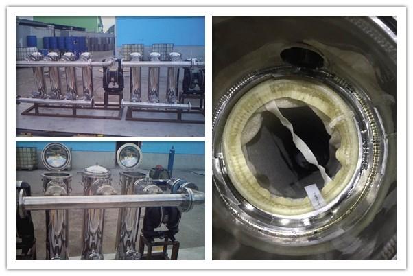 并联/串联多级过滤器,山东润滑油滤除杂质串联过滤现场